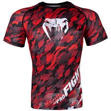Рашгард Venum Tecmo Rashguard Short Sleeves Red (VENUM-03138-425)(Фото 1)