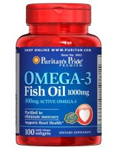 Заказать Витамины Puritan's Pride Omega 3 Fish Oil 1000mg (8324)