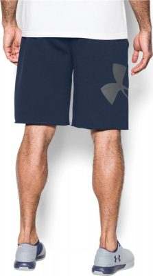 Шорты Under Armour Rival Fleece Exploded Logo Shorts 1303137-410(Фото 2)
