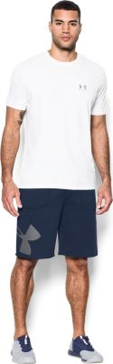 Шорты Under Armour Rival Fleece Exploded Logo Shorts 1303137-410(Фото 3)