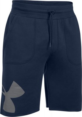 Шорты Under Armour Rival Fleece Exploded Logo Shorts 1303137-410(Фото 4)