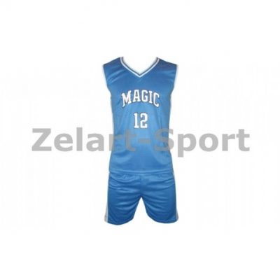 Форма баскетбол. юниорская NBA MAGIC 12 (PL, р-р M-L, голубо-белый) (CO-0038-2 )(Фото 1)