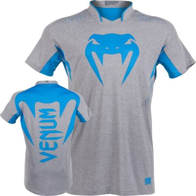 Футболка Venum Hurricane X Fit T-shirt Grey Blue (V-001)(Фото 1)