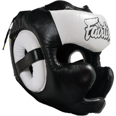 Шлем Fairtex FULL PROTECTION HG13 (Black White)(Фото 1)