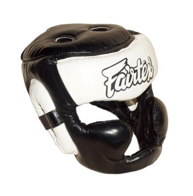 Шлем Fairtex FULL PROTECTION HG13 (Black White)(Фото 2)