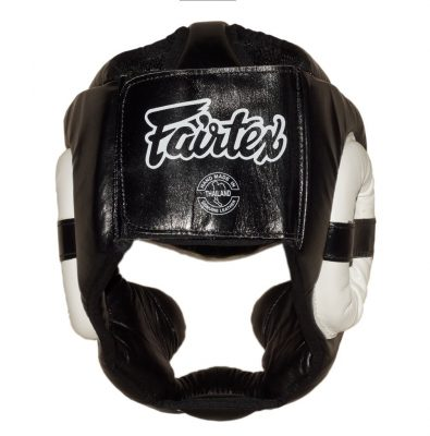 Шлем Fairtex FULL PROTECTION HG13 (Black White)(Фото 4)