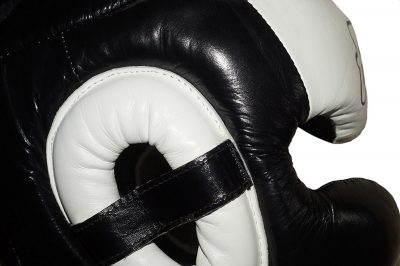 Шлем Fairtex FULL PROTECTION HG13 (Black White)(Фото 5)