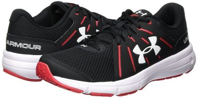 Кроссовки Under Armour Men's Dash RN 2 Black/Red/White Athletic Shoe(Фото 1)