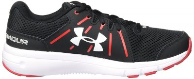 Кроссовки Under Armour Men's Dash RN 2 Black/Red/White Athletic Shoe(Фото 2)