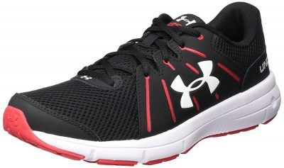 Кроссовки Under Armour Men's Dash RN 2 Black/Red/White Athletic Shoe(Фото 6)