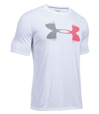 Футболка для бега Under Armour Hazard Logo Threadborne Ss(Фото 1)