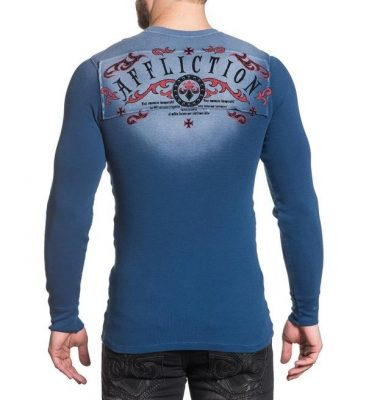 Кофта Affliction Thermal Tried Eagle Blue(Фото 2)