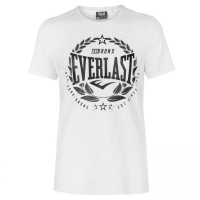 Футболка Everlast Laurel T Shirt Mens (Белый)(Фото 1)