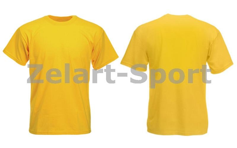 8c02f53e2324d Футболка спортивная детская однотонная без рисунков CO-4490B-8 желтый (х-б