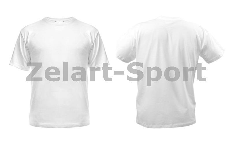 b016180946e0e Футболка спортивная детская однотонная без рисунков CO-4490B-1 белый (х-б