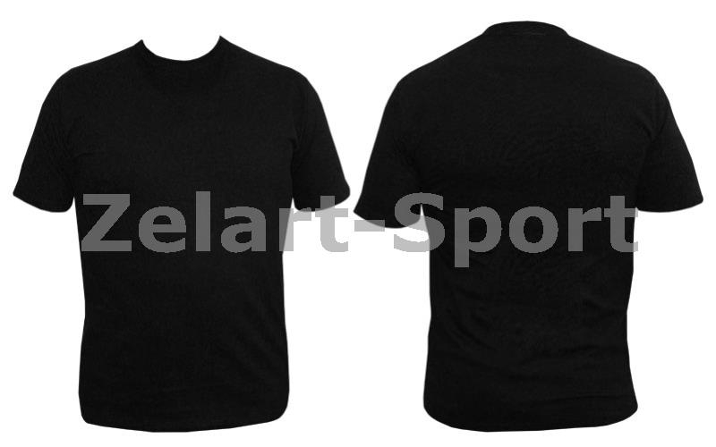 c172fec07384b Футболка спортивная детская однотонная без рисунков CO-4490B-2 черный (х-б