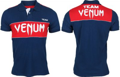 Футболка Venum USA Team Polo - Navy/Red (V-Team Polo3)(Фото 1)