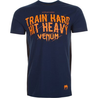 Футболка VENUM TRAIN HARD HIT HEAVY T-SHIRT BLUE (VENUM-02651)(Фото 1)