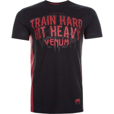 Футболка VENUM TRAIN HARD HIT HEAVY T-SHIRT BLACK (VENUM-02651)(Фото 1)