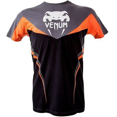 Футболка Venum Shockwave 3 T-Shirt -Black Orange (VENUM-1312)(Фото 1)