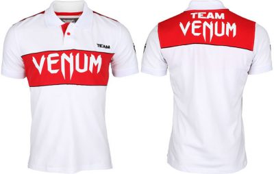 Футболка Venum Japan Team Polo - White/Red (EU-VENUM-Japan)(Фото 1)